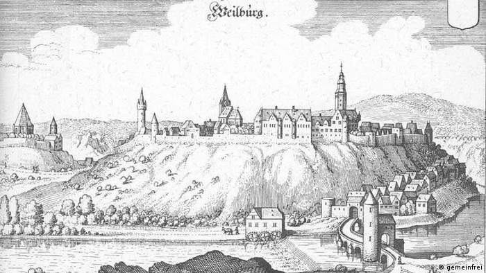 Вайльбург на гравюре Маттеуса Мериана (1655 год)