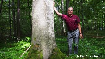 Manfred Großmann, Leiter des Nationalparks Hainich (Foto: DW/C. Hoffmann)