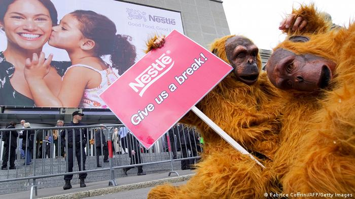 Greenpeace Aktion gegen Nestle