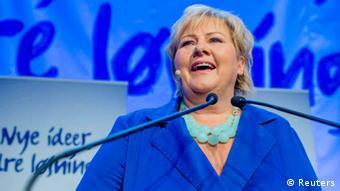 Norwegen Wahlen Erna Solberg