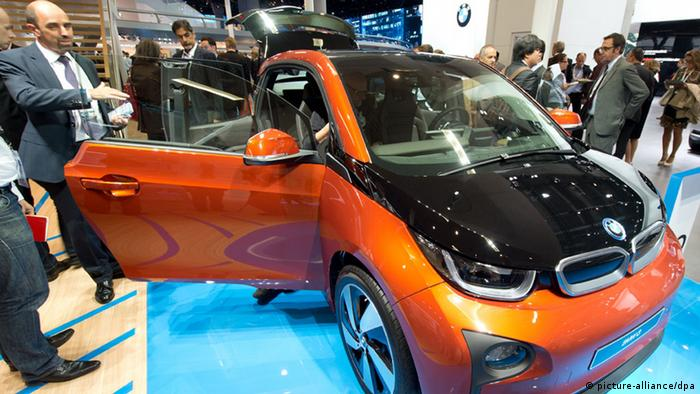 The i3 at the Frankfurt Motor Show Copyright: Boris Roessler/dpa