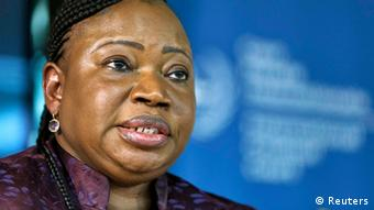 Prosecutor Fatou Bensouda of the International Criminal Court (ICC) attends a news conference before the trial of Kenya's Deputy President William Ruto and Joshua arap Sang in The Hague September 9, 2013. REUTERS/Michael Kooren (NETHERLANDS - Tags: CRIME LAW HEADSHOT POLITICS)