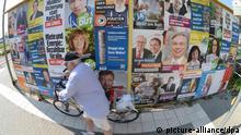 Deutschland Wahlplakate 30.08.2013 in Oberursel