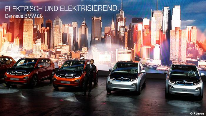 b24d742b60e95 BMW board member Herbert Diess presents the new BMW i3 electric car during  a media preview