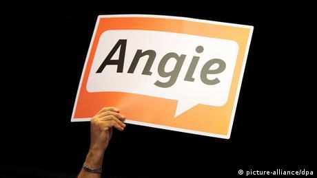 Wahlkampf 2013 Angie Plakate der CDU