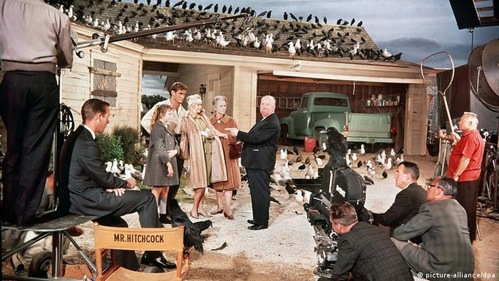 The set during the final scene of 'The Birds'