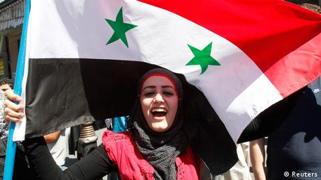 Pro-Assad demonstrations in Syria in September.