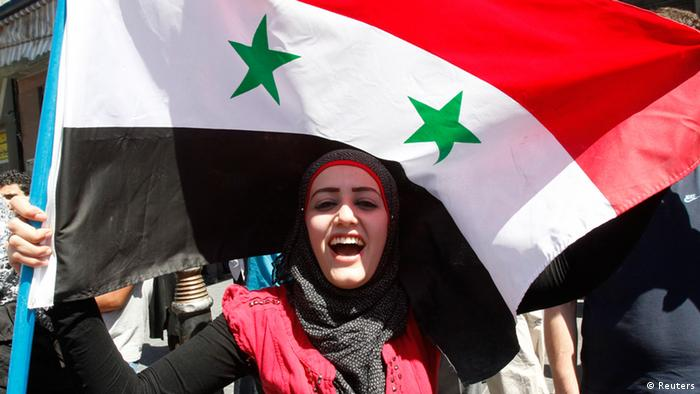 Syrien Pro-Assad Demos in Damaskus 09.09.2013 (Foto: REUTERS/Khaled al-Hariri)