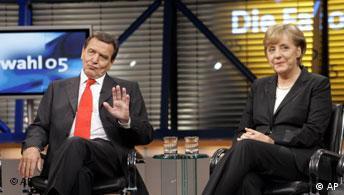 Wahlen Deutschland Fernsehsendung Wahl 05 Die Favoriten