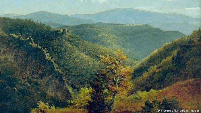Пейзаж 1854 года Георга Генриха Крола