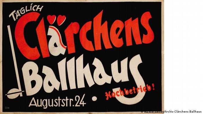 Poster for Clärchens Ballhaus 1930s