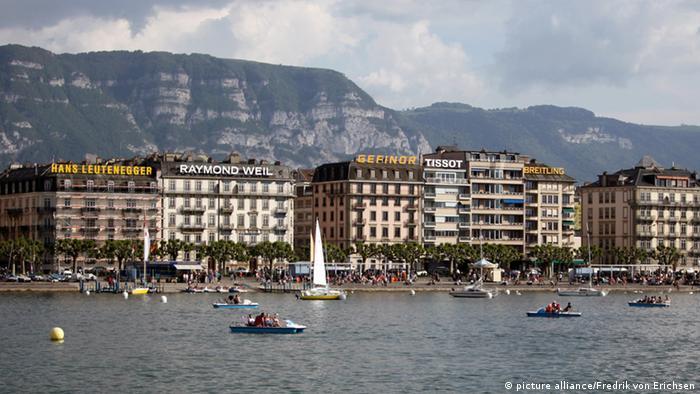 Panorama der Stadt Genf mit dem Genfer See
