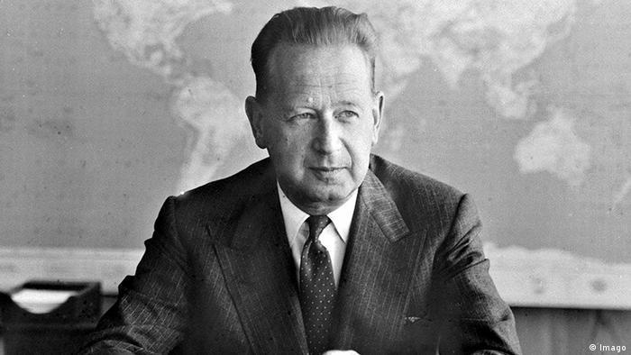 Резултат с изображение за Генералният секретар на ООН Даг Хамаршелд