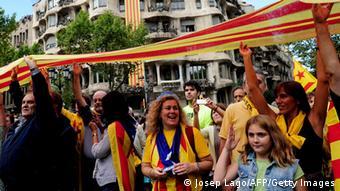Демонстрация сторонников отделения Каталонии от Испании