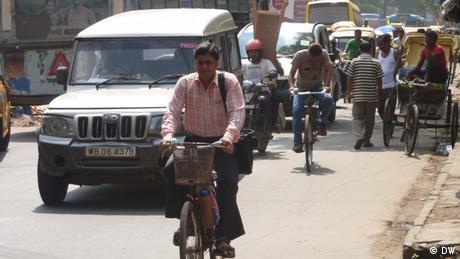 Kalkutta Protest gegen Fahrradverbot (DW)