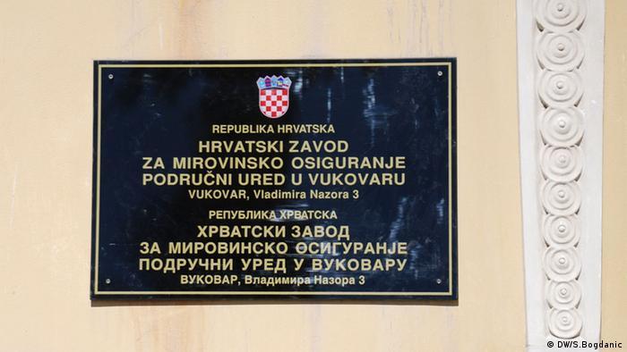 Vukovar Kroatien Schild (DW/S.Bogdanic)