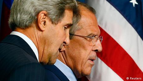John Kerry with Sergey Lavrov in Genf