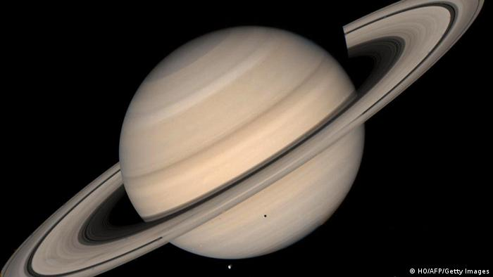 Foto des Saturn in Echtfarben ( Foto:HO/AFP/Getty Images)