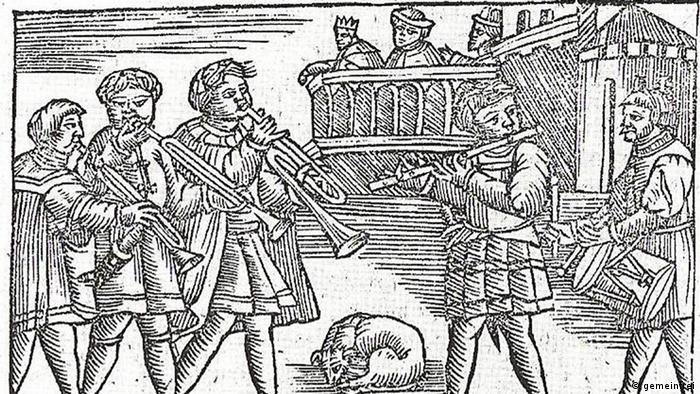 Stadtpfeifer um 1555