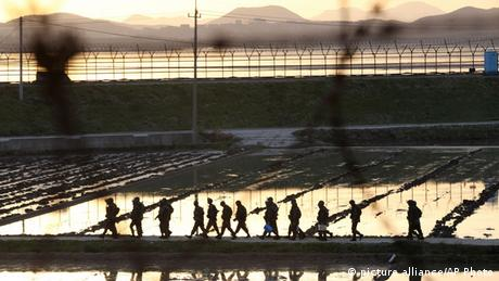 Grenzanlagen in Panmunjom Südkorea