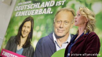 Partei Bündnis 90/Die Grünen Plakate zum Endspurt des Wahlkampfs