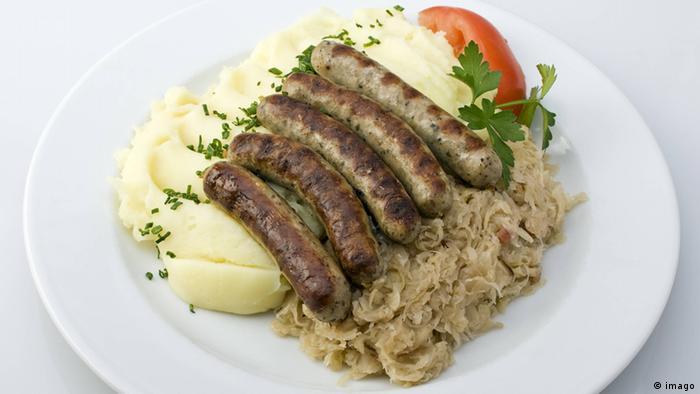 Нюрнбергские жареные колбаски