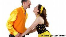 Tanzen Paar Gelb