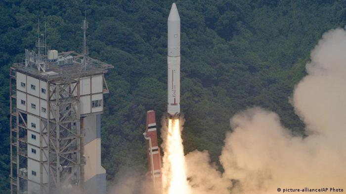 An Epsilon rocket lifts off from the Uchinoura Space Center in Kimotsuki town, Kagoshima, western Japan Saturday, Sept. 14 2013. (Photo via AP Photo/Kyodo News)