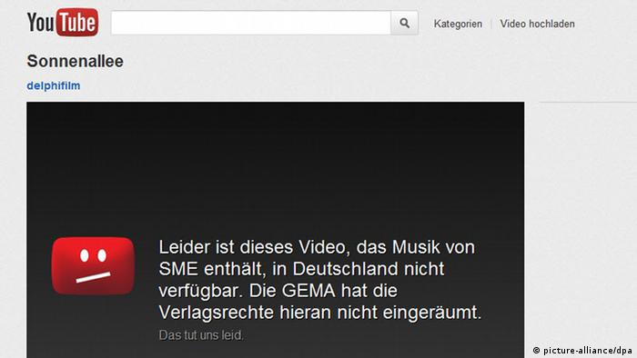 Symbolbild Sperrung bei Youtube (picture-alliance/dpa)
