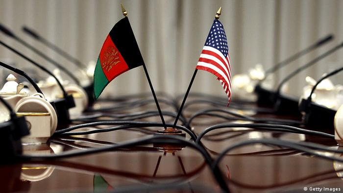 ARLINGTON, VA - APRIL 10: Flags are positioned on a table as Secretary of Defense Leon E. Panetta, and Afghanistan's Minister of National Defense Abdul Rahim Wardak, participate in a bi-lateral meeting at the Pentagon, on April 10, 2012 in Arlington, Virginia. Secretary Panetta and Minister Wardak met to discuss U.S and Afghanistan relations. (Photo by Mark Wilson/Getty Images)