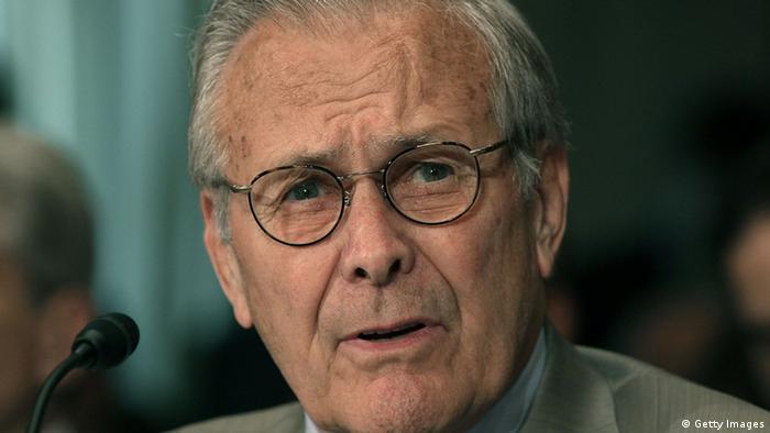 Donald Rumsfeld ehemaliger US Verteidigungsminister