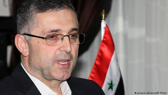 Ali Haidar, the Syrian Minister for Reconciliation Affairs, speaks during an interview with The Associated Press in Damascus, Syria on Wednesday, Sept. 11, 2013. (AP Photo)