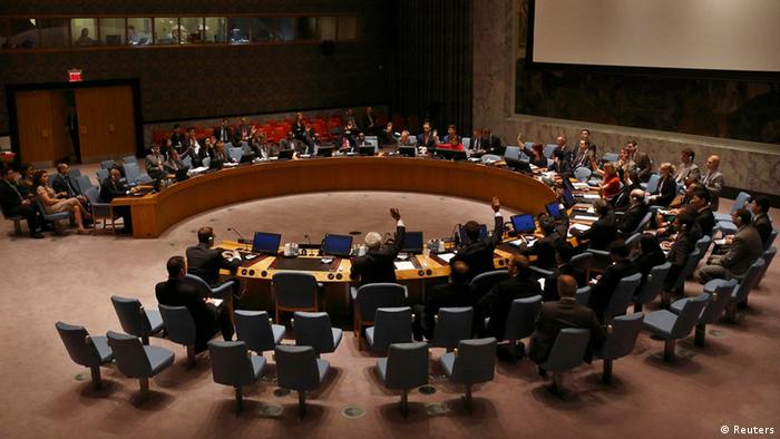 Delegates vote on a resolution in the United Nations Security Council(Photo: REUTERS/Brendan McDermid)