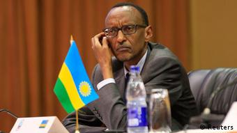Rwanda's President Paul Kagame attends the extraordinary summit of the International Conference on the Great Lakes Region (ICGLR) head of states emergency summit in Uganda's capital Kampala. REUTERS/James Akena (UGANDA - Tags: POLITICS CIVIL UNREST CONFLICT)