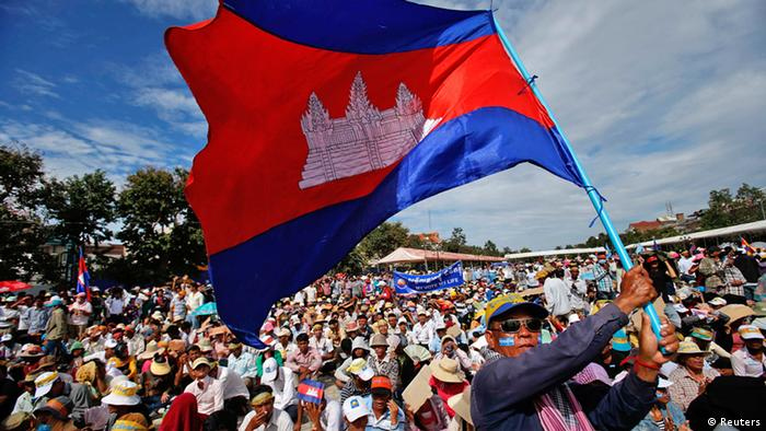 Election protests in Phnom Penh (Reuters)