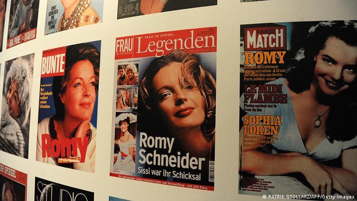 Роми Шнайдер на обложках журналов