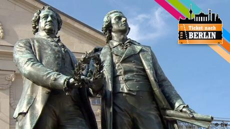 Statuen von Johann Wolfgang von Goethe und Friedrich Schiller