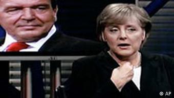 Angela Merkel - Gerhard Schröder ARD-Sendung