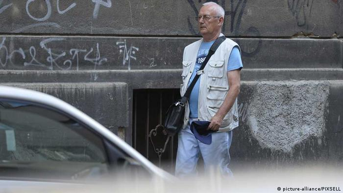 Josip Perkovic on the streets of Zagreb in 2013. Photo: Marko Lukunic / PIXSELL