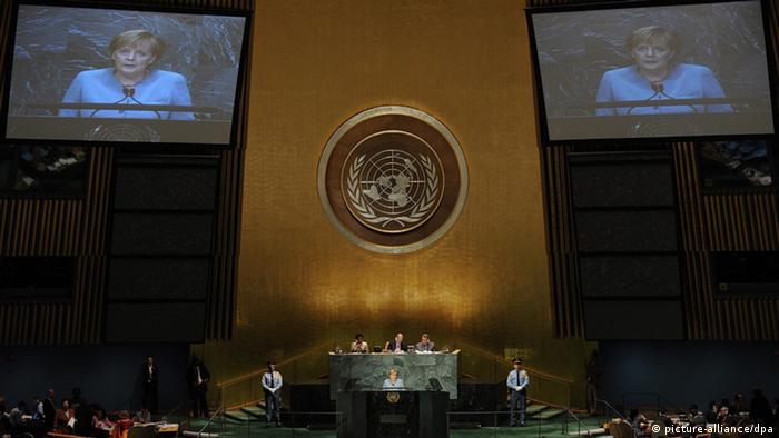 UN-Milleniumsgipfel Angela Merkel