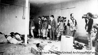 Iraq Massacre: Cameramen tour the iraqi town of Halabja to witness the Chemical bombing and the massacring in the town. 21 March 1988 Iraq / Mono Print