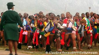 Traditioneller Reed Dance in Swaziland