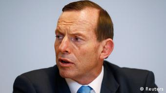 Australia's Prime Minister Tony Abbott talks at a press conference