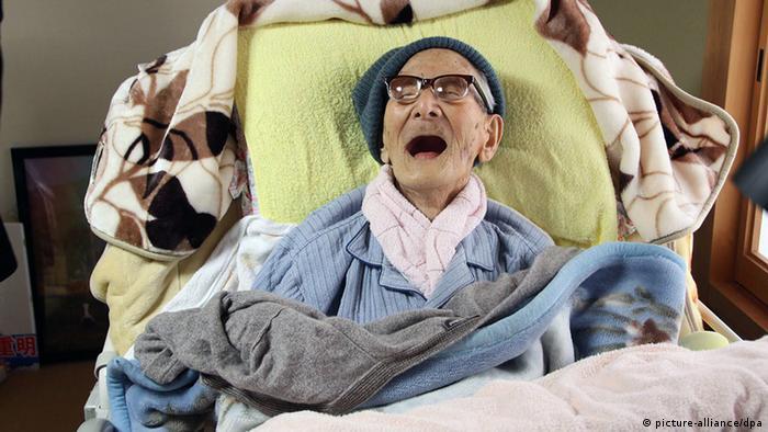 Jiroemon Kimura Japan ältester Mensch der Welt (picture-alliance/dpa)