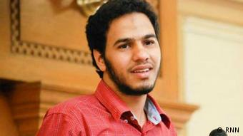 Abdullah Al-Fakharany works for Rassd News Network RNN. He was arrested three weeks ago and has been accused of agitating against the military and manipulating the news published by RNN (photo: RNN).