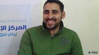 Samhy Mustafa works for Rassd News Network RNN. He was arrested three weeks ago and has been accused of agitating against the military and manipulating the news published by RNN (photo: RNN).