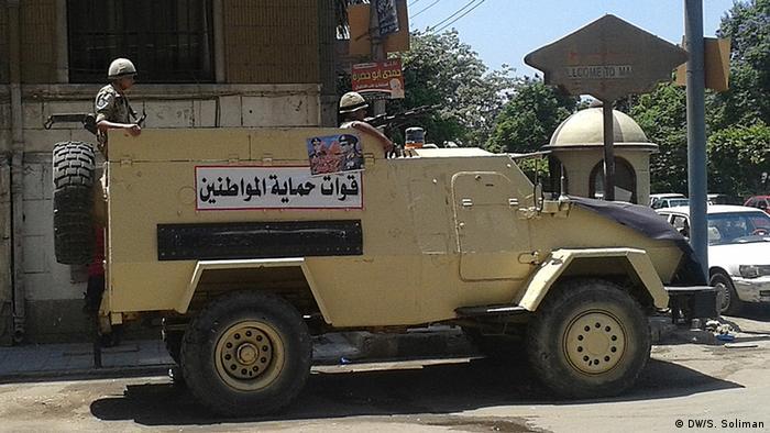 Ägyptisches Armeefahrzeug (Foto: DW)