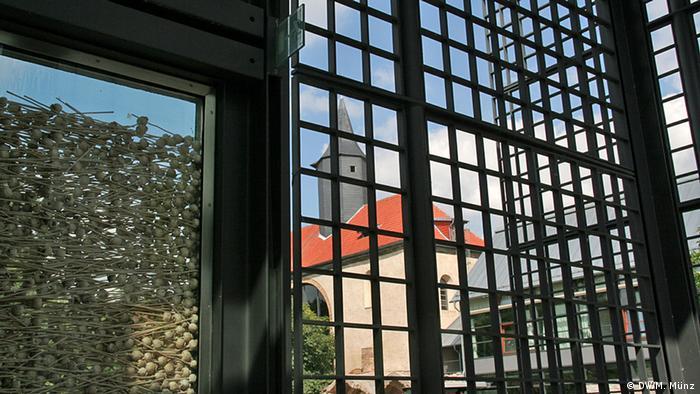 Klosterkirche Volkenroda, Thüringen, aufgenommen am 27. August aus dem Christus-Pavillon heraus, Fotograf: Michael Münz
