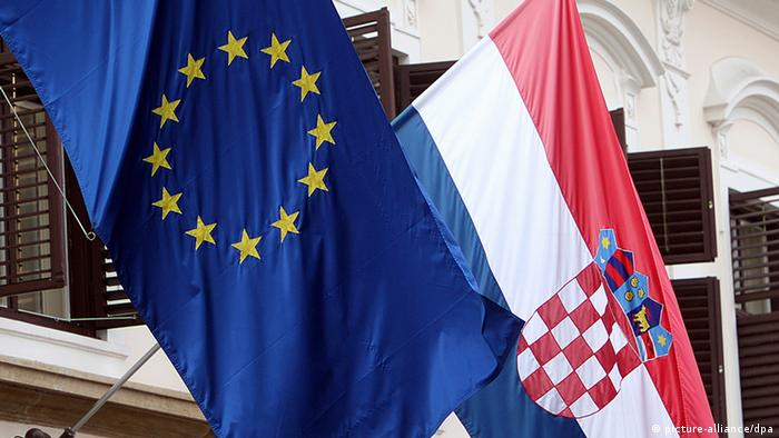 EU and Croatian flags EPA/ANTONIO BAT