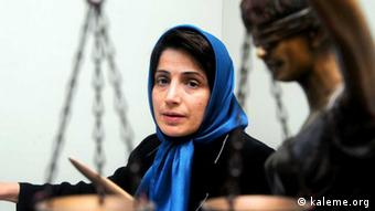 Nasrin Sotoudeh Quelle: kaleme.org (kaleme.org ist eine iranische Nachrichtenquelle der Reformer)